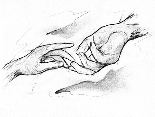 Hands Sketch Confess Show Print